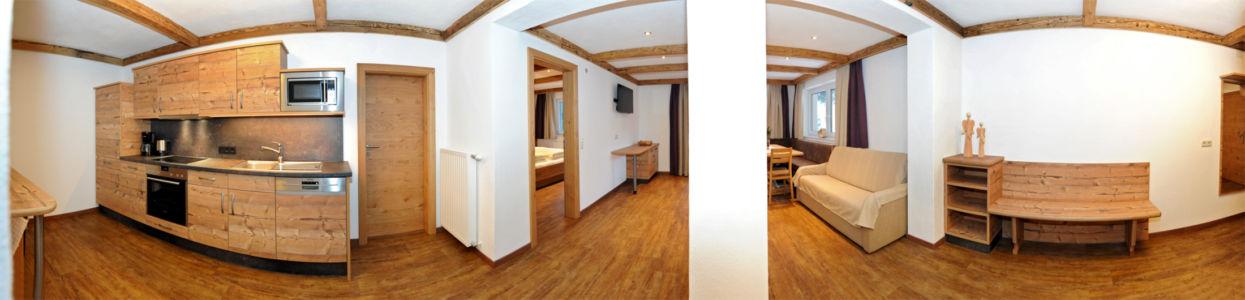Zwölferkogel Küche und Wohnzimmer