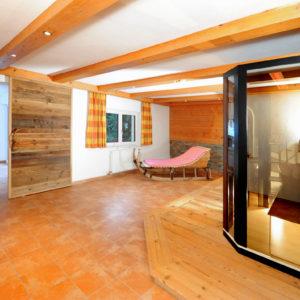 Wellnessbereich Berghof mit Infrarotkabine