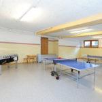 Der Freizeitraum des berrghofs mit Tischtennistisch
