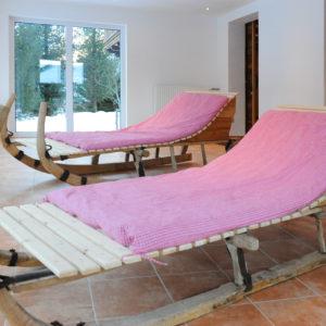 der Ruheraum des Berghof Wellness Bereichs
