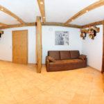 Rezeptionsbereich der Berghof Appartements Hinterglemm