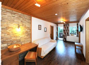Der Wohnraum des Appartement Tristkogel